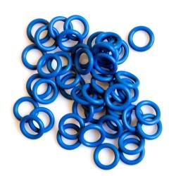 Modré gumové kroužky - 50 ks