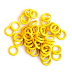 Žluté gumové kroužky - 50 ks