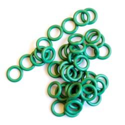 Zelené gumové kroužky - 50 ks
