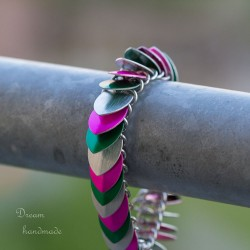 Šupináč tříbarevný - náramek