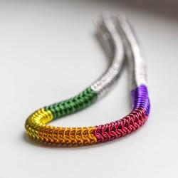 Zamotaná duha IV - náhrdelník